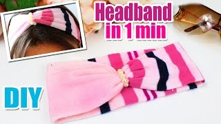 DIY HEADBAND CUTE & FAST TUTORIAL | Hair Band EASY