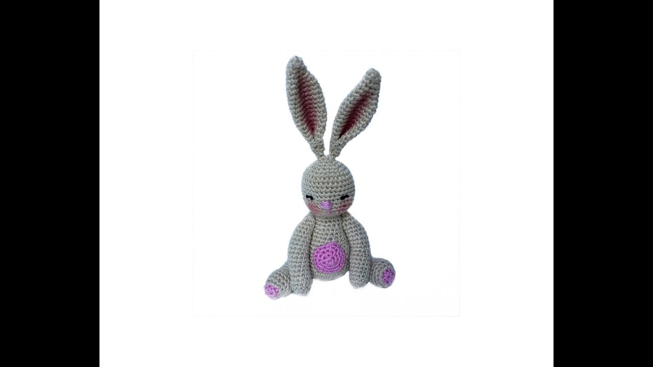 Amigurumi Rabbit Tutorial : Rosie rabbit crochet doll tutorial how to crochet a rabbit youtube