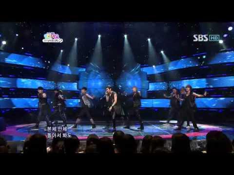 Super junior - Bonamana (슈퍼주니어 - 미인아) @ SBS Inkigayo 인기가요 100613