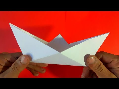 Como Hacer Un Barco De Papel How To Make A Paper Boat Origami Youtube