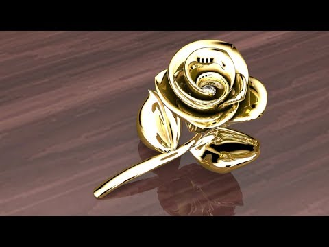 Demo 3Design v9 Jeweler Choice, Modelling Semi Blossom Rose