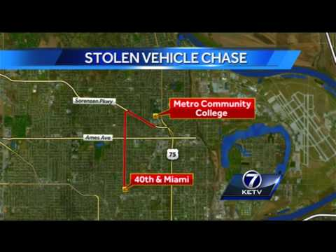 Suspect breaks through Fort Omaha gate after chase