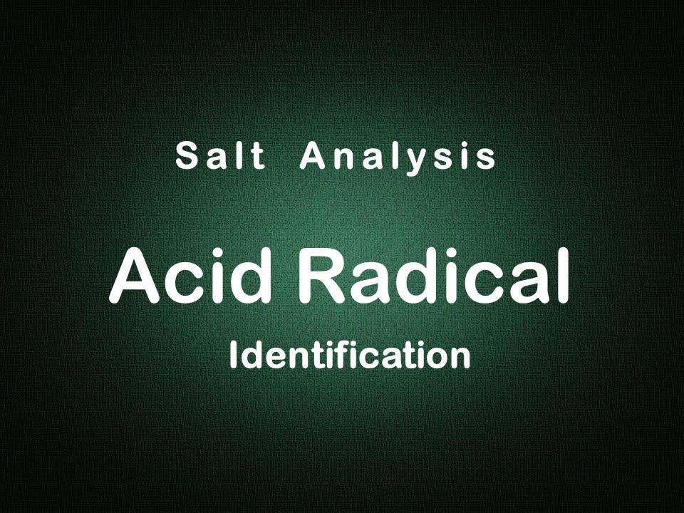 Salt Analysis Anion identification Experiment Edunovus Online Smart  Practicals