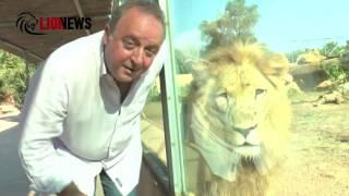 O Δημήτρης Καμπουράκης στο κλουβί των λιονταριών - Making of