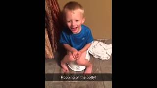 Pooping on the potty