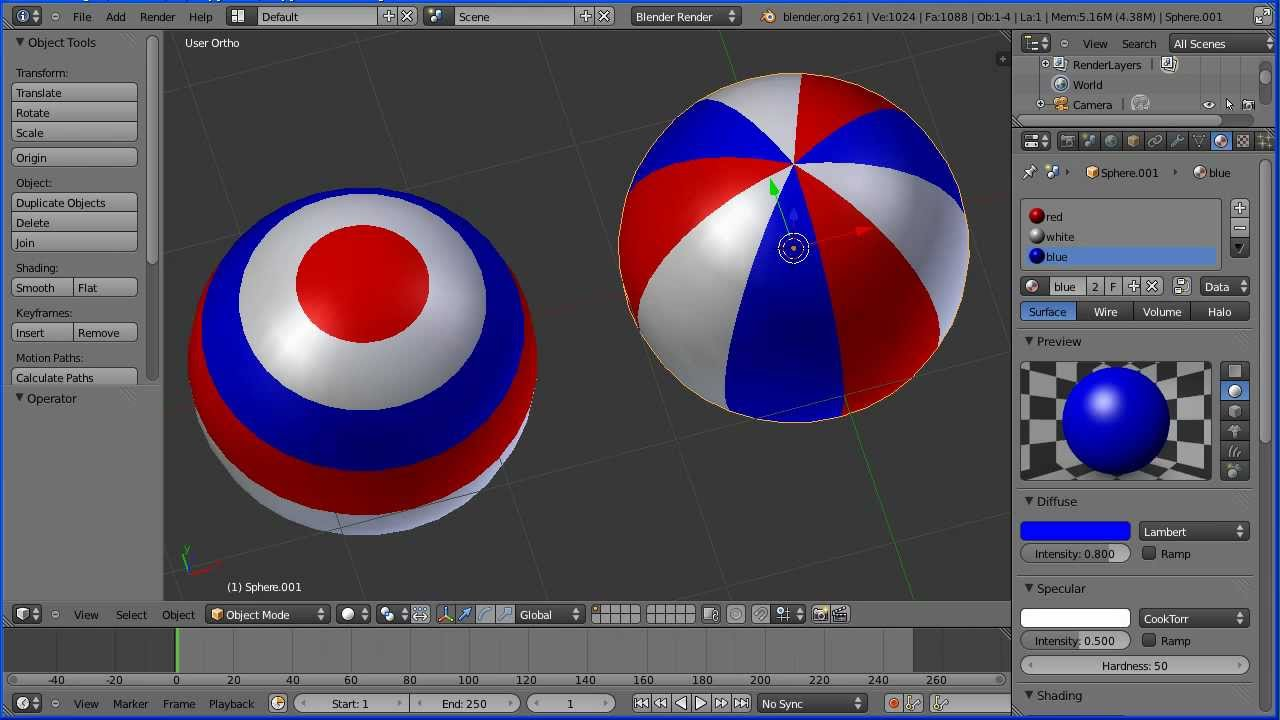 Blender Multiple Materials Tutorial Colouring Different ...