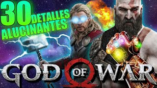 30 DETALLES ALUCINANTES de GOD of WAR PS4