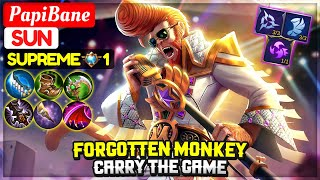 Forgotten Monkey Carry The Game [ Supreme 1 Sun ] PapiBane YouTube - Mobile Legends