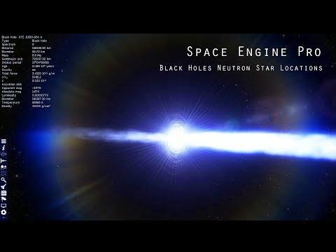 Black Holes/Neutron Star Locations - Space Engine Pro (1080p 60fps)
