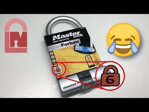 Взлом отмычками Masterlock   (402) Master Lock 8193DPRO Street Fortum