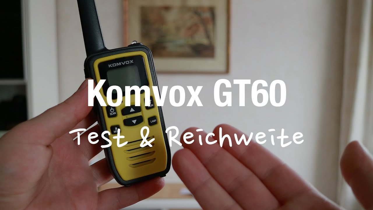 komvox gt60 funkger t walkie talkie kinder test reichweite youtube. Black Bedroom Furniture Sets. Home Design Ideas
