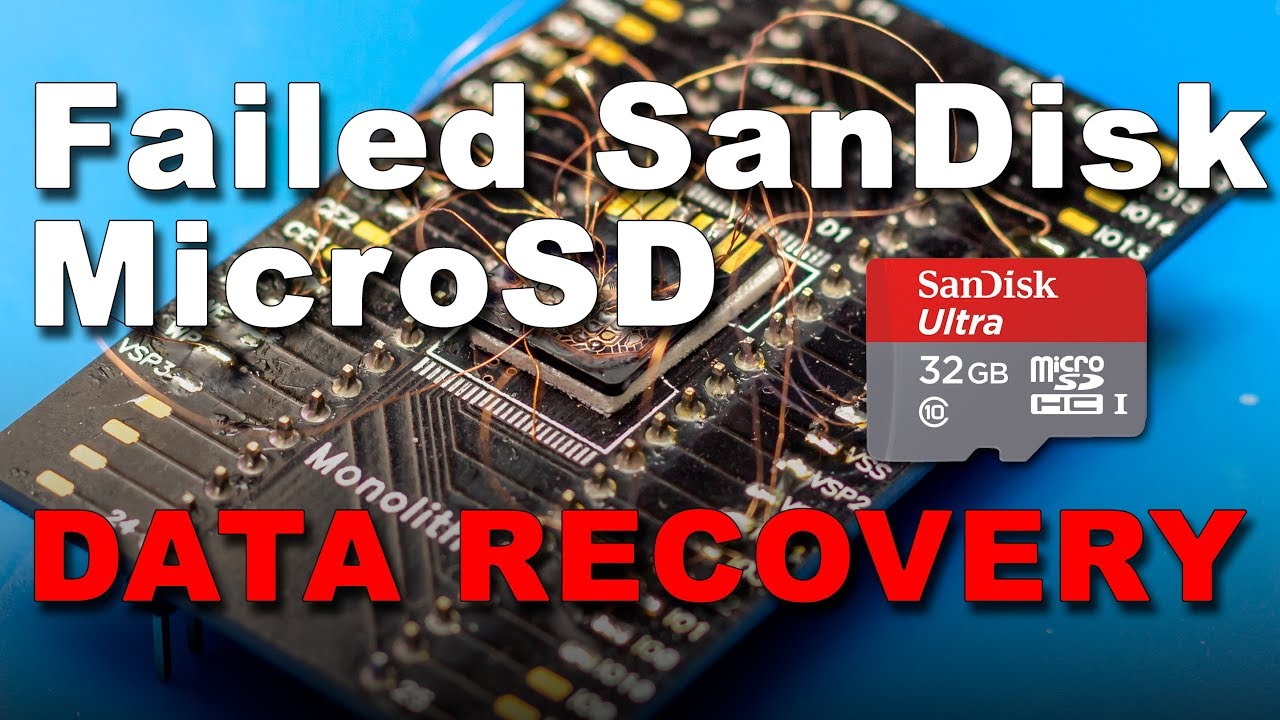 SanDisk MicroSD card will not read - Data Recovery