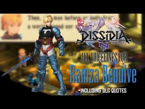 [DFFNT] All Ramza Beoulve Voicelines
