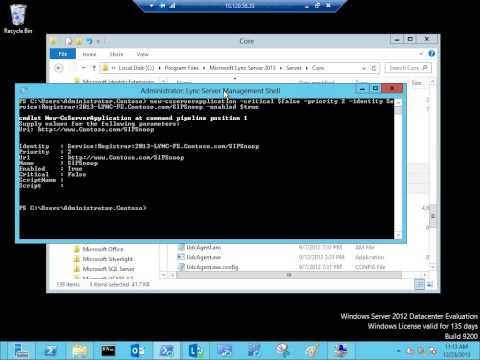 Lync Server 2013   Register a managed code application