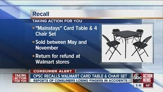 Card Table & Chair Set Being Recalled By Walmart