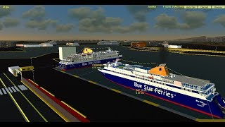 Vehicle Simulator Online : Blue Star Paros & Blue Star Delos departure from Piraeus