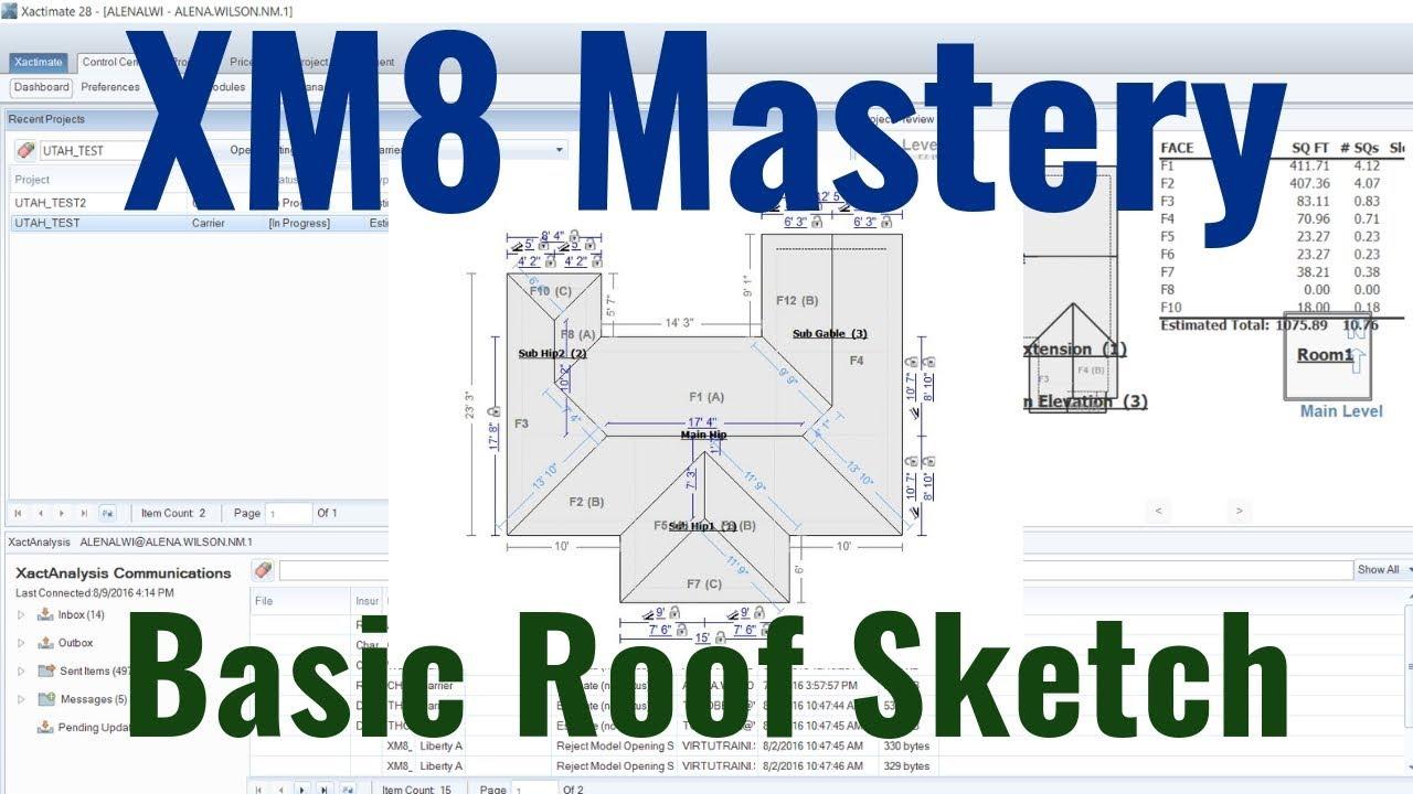 Basics of Roof Sketch - XM8 Mastery