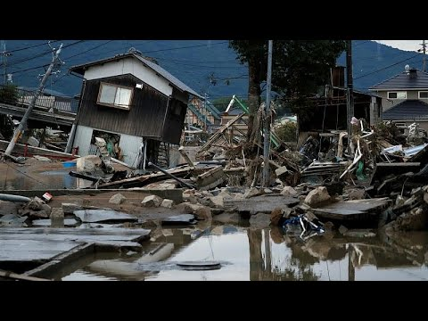 More than 80 people killed after massive floods hit Japan