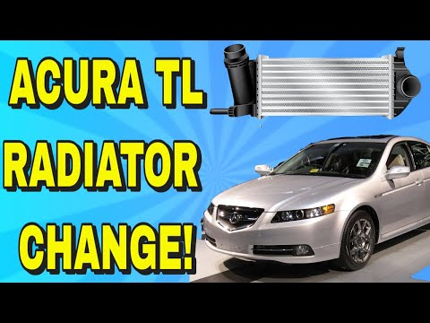2004 2005 2006 2007 2008 ACURA TL RADIATOR REPLACEMENT, EXCHANGE, REMOVAL, OVERHEATING 3.2 l