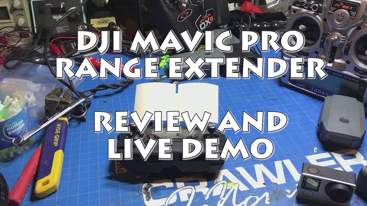 Dji Mavic Pro Range Extender Review And Test Youtube