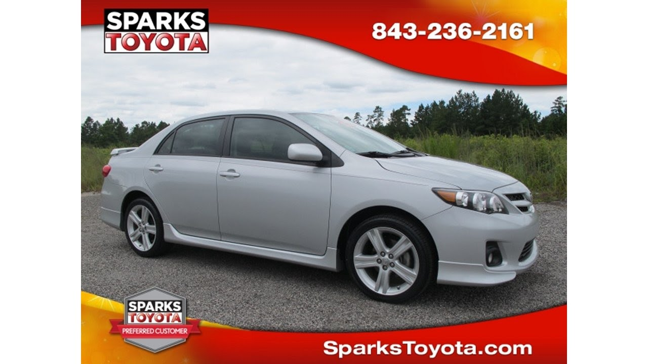 2013 Toyota Corolla S Now Available At Sparks Toyota In Myrtle