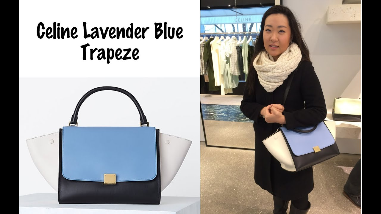 What\u0026#39;s in Your Bag? Celine Lavender Blue Trapeze - YouTube