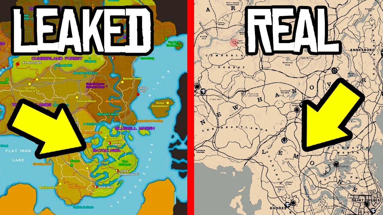 SECRET RED DEAD REDEMPTION 2 MAP LEAKS! REAL OR FAKE? RDR2 Leaked Gameplay