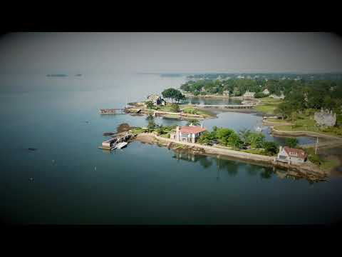 Cos Cob, Connecticut Gold Coast - early morning drone footage