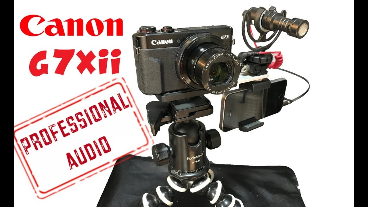 CANON G7Xii EASY EXTERNAL MIC HACK! (Demo & Setup!)