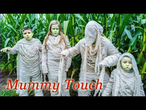 Assistant and Batboy Ryan Spooky Mummy Touch in the Corn Maze