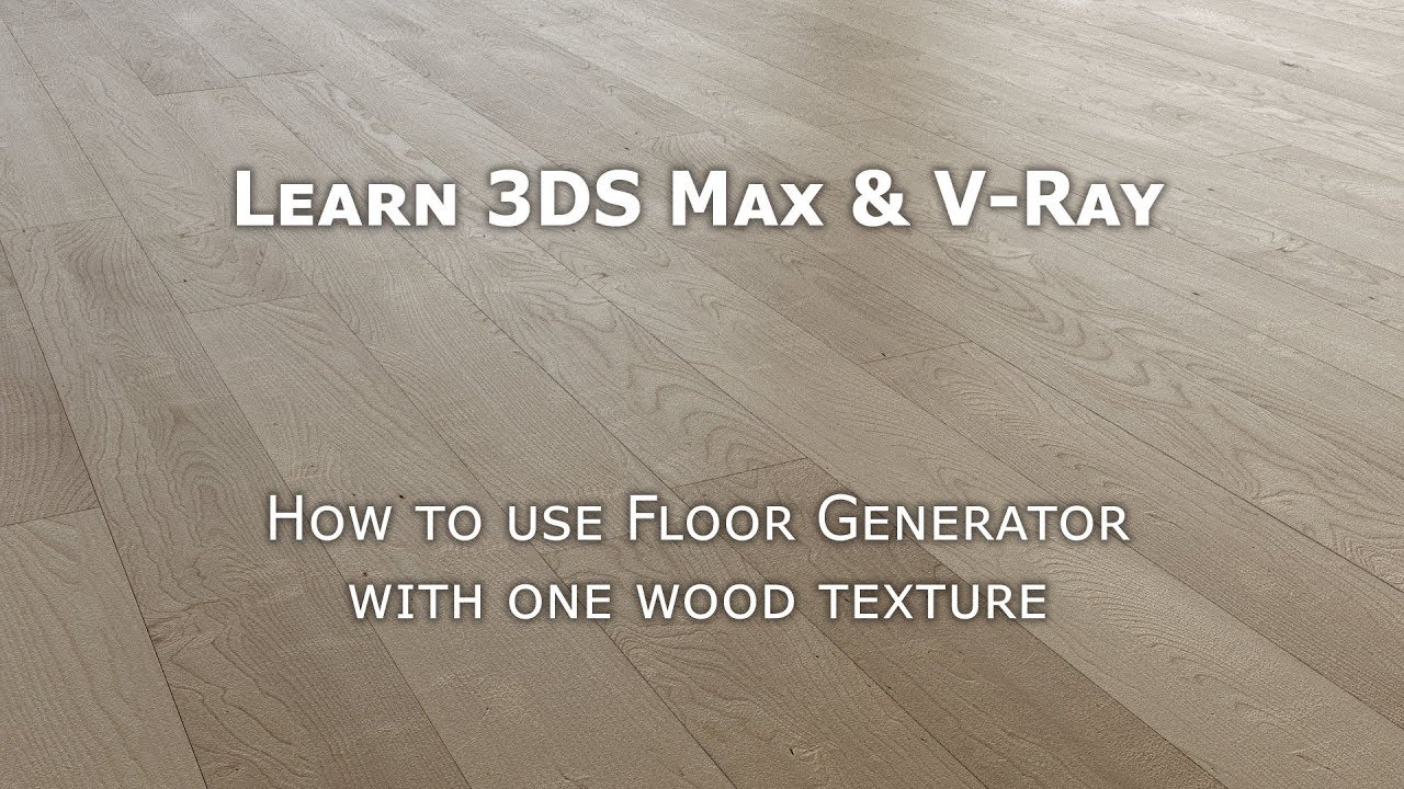 Tutorial 3DS Max Floor Generator Unwrap