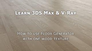 Tutorial 3DS Max Floor Generator Unwrap