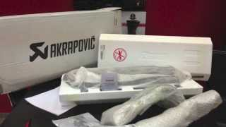 Black Akrapovic Tmax Unboxing