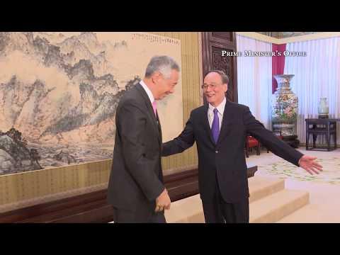 PM Lee meets China's anti-corruption czar Wang Qishan