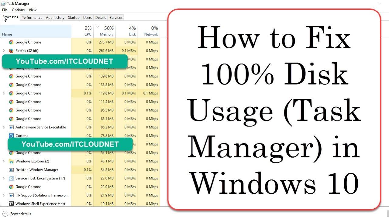 100 disk usage windows 7