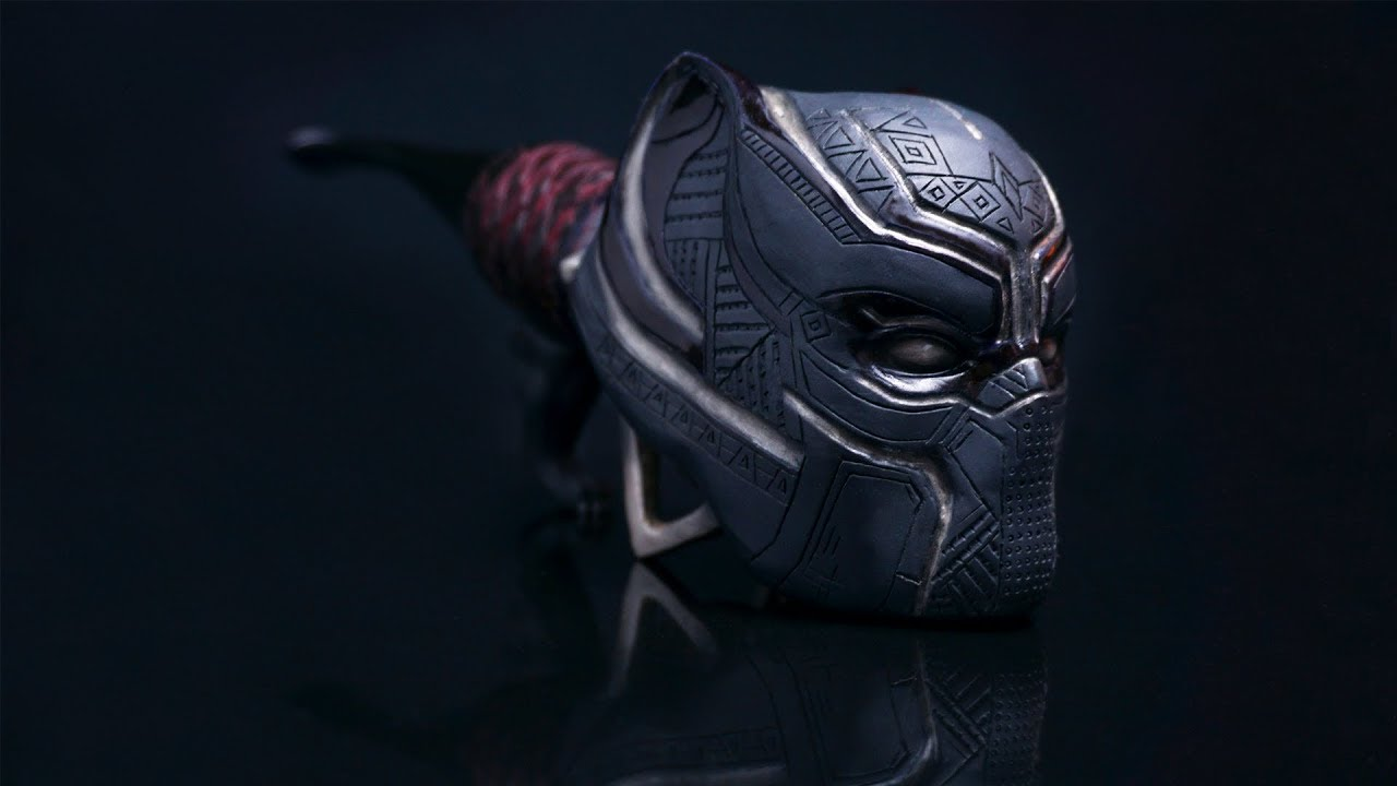 Black Panther - Hand carved smoking pipe