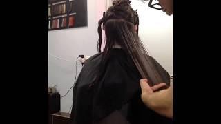 Стрижка на длинные волосы/технология выполнения/коммерческая стрижка. Стрижка каскад