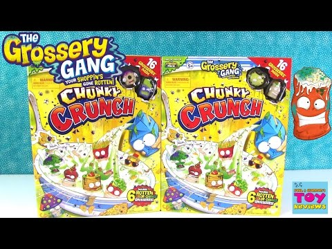 Color Change Grossery Gang Chunky Crunch Cereal Box Opening | PSToyReviews