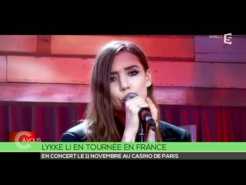 """Lykke Li """" No rest for the wicked"""" - C à vous - 06/05/2014"""