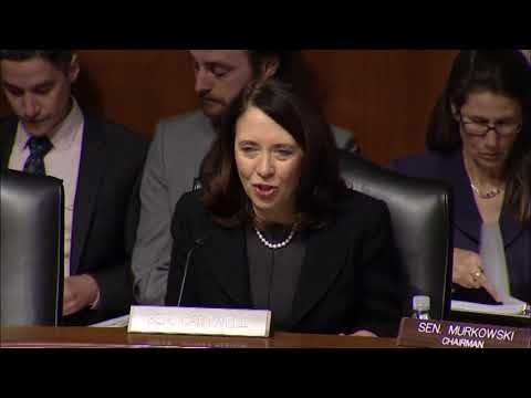 Senator Cantwell's Opening Statement on the President's Energy budget for FY19