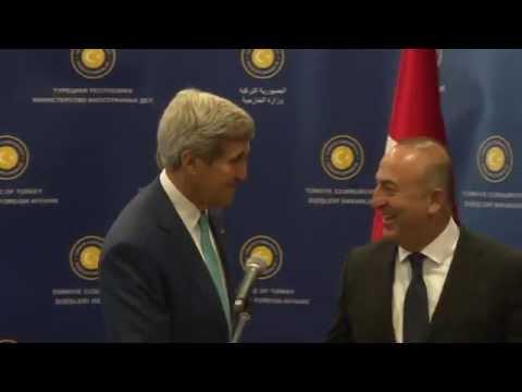 Sayın Bakanımız Mevlüt Çavuşoğlu'nun Amerika Dışişleri Bakanı John Kerry ile Ortak Basın Toplantısı