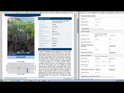 Underwriting an apartment property listing using Valuate