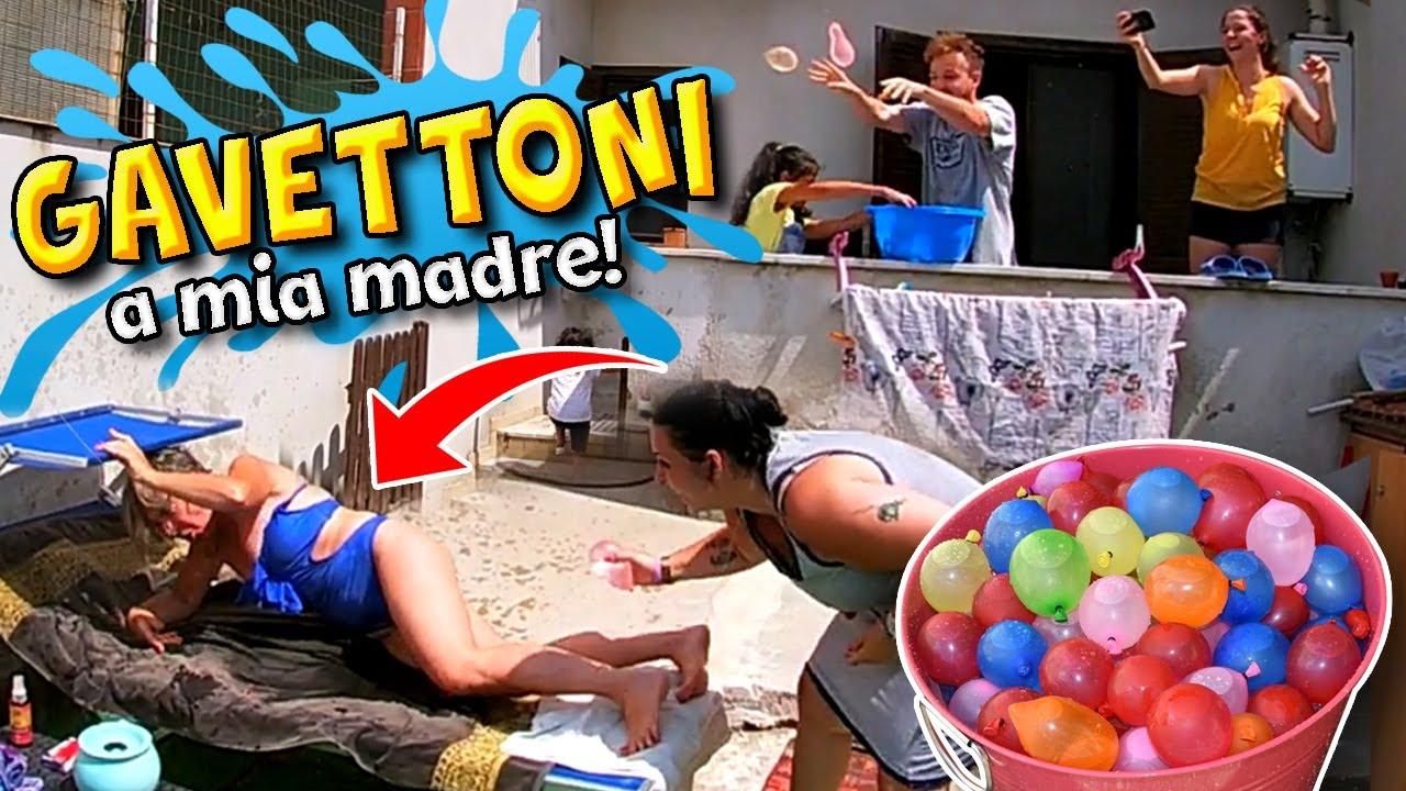 LANCIO 100 GAVETTONI ADDOSSO a MIA MADRE  *PRANK*