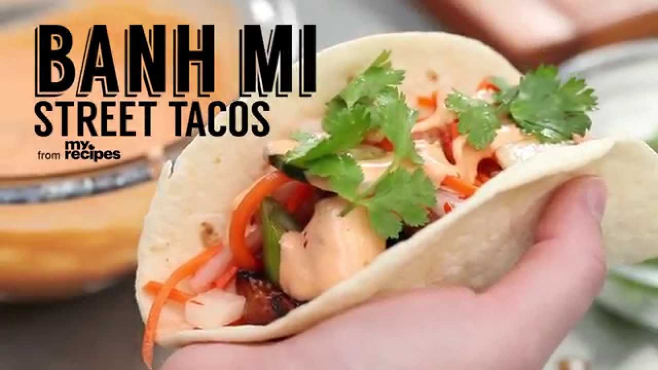 How to Make Bánh Mì Tacos | MyRecipes - YouTube