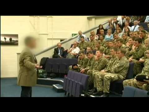 Former SAS soldier Andy McNab visits Army college 20.06.12