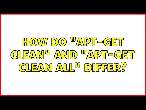 "Ubuntu: How do ""apt-get clean"" and ""apt-get clean all"" differ?"