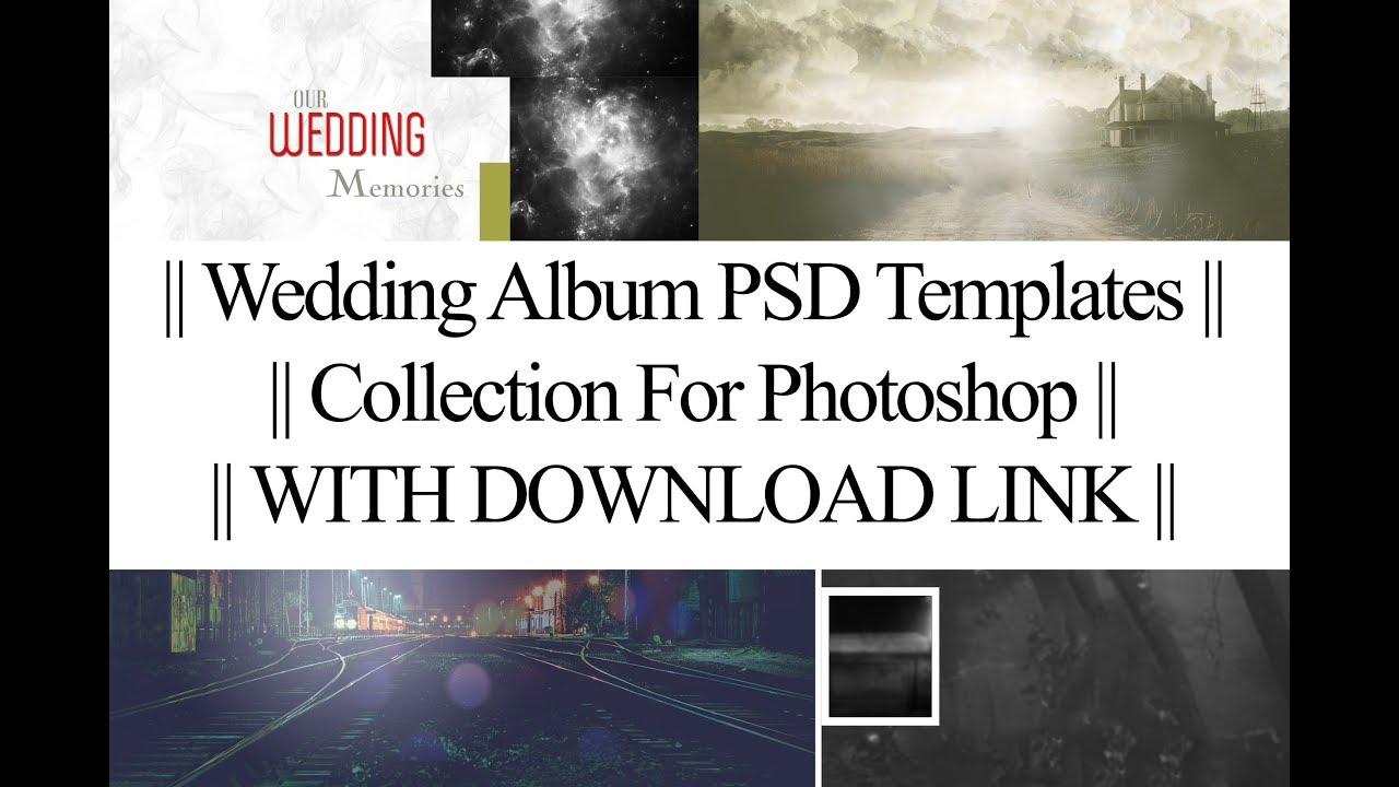 Free Download || 21 Wedding Album PSD Templates || Collection For ...