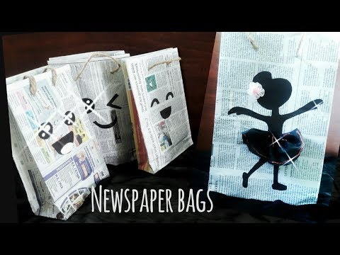 PAPER BAG: How to make paper bag with newspaper | Newspaper bag diy | paper craft ideas| Recycle diy
