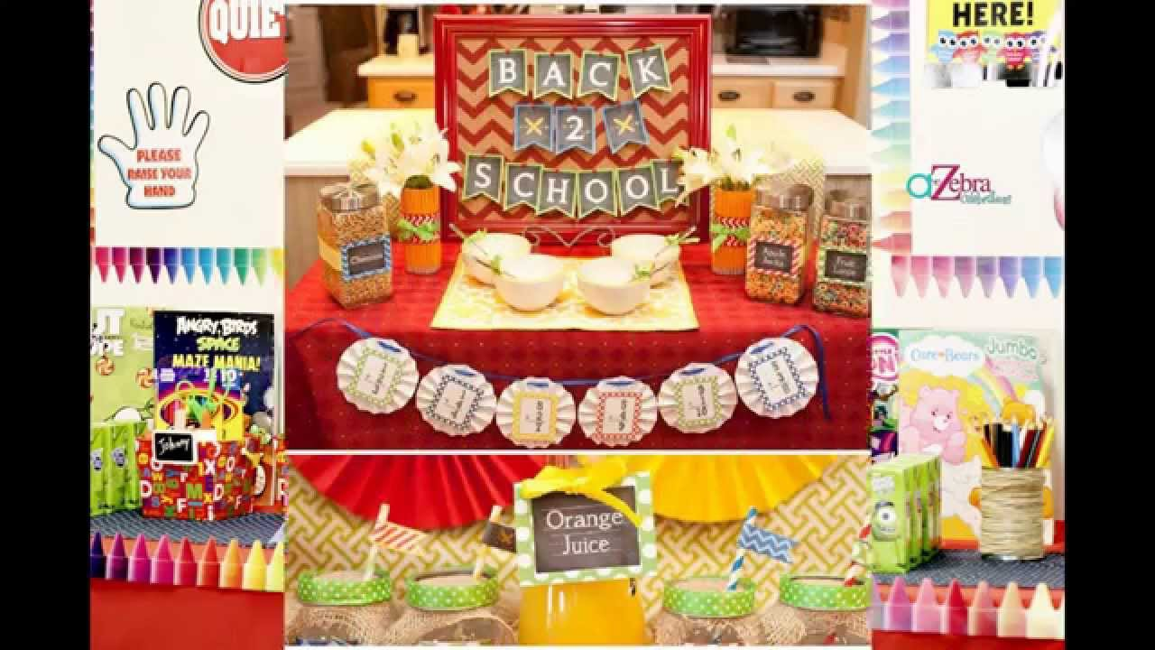 Creative back to school party decorations ideas youtube for Back to school party decoration ideas