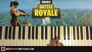 HOW TO PLAY - Fortnite Battle Royale - Main Menu Theme (Piano Tutorial Lesson)